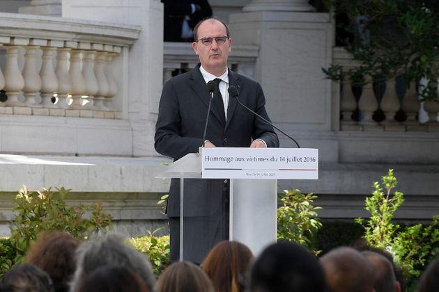 Jean Castex rend hommage aux victimes de l'attentat de Nice, le 14 juillet