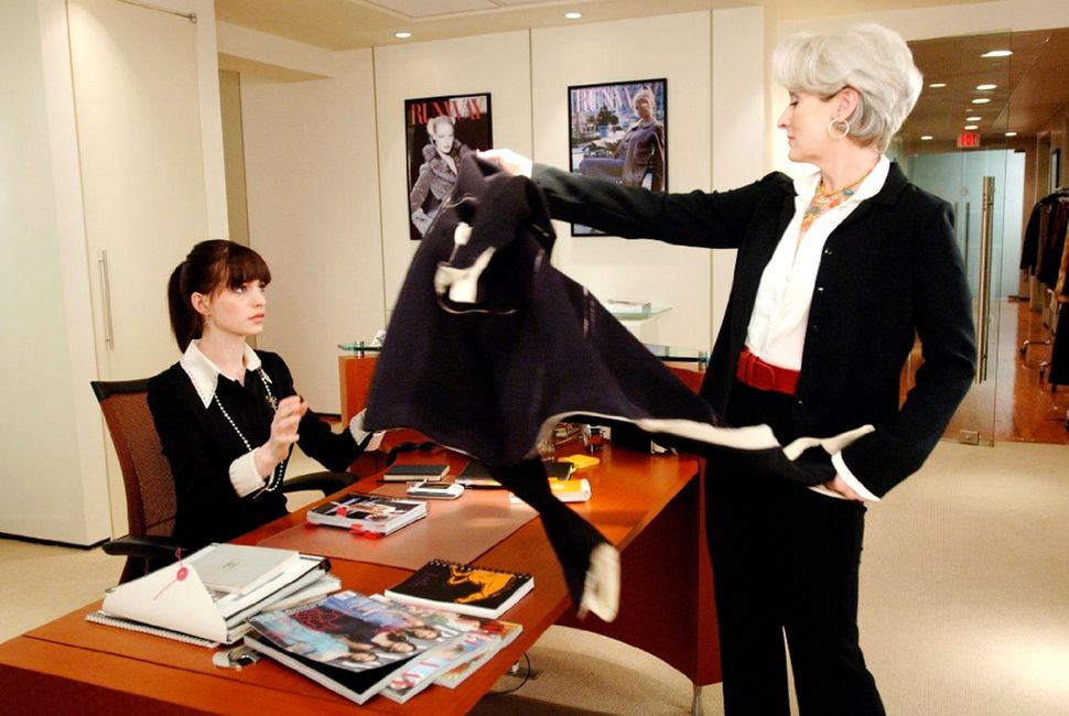 Miranda Priestly was the queen of microaggressions, like throwing her coat on her assistant's desk.