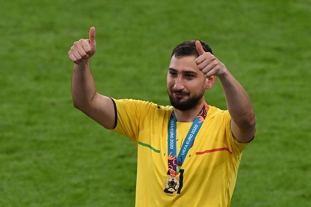 Le gardien Gianluigi Donnarumma après la victoire de l'Italie à l'Euro
