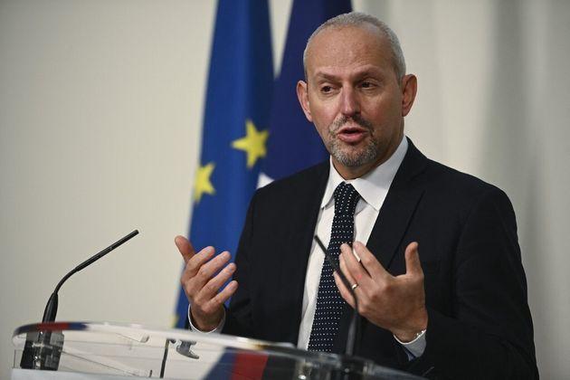 Jérôme Salmon lors d'une conférence de presse consacrée au Covid-19, le 7 décembre