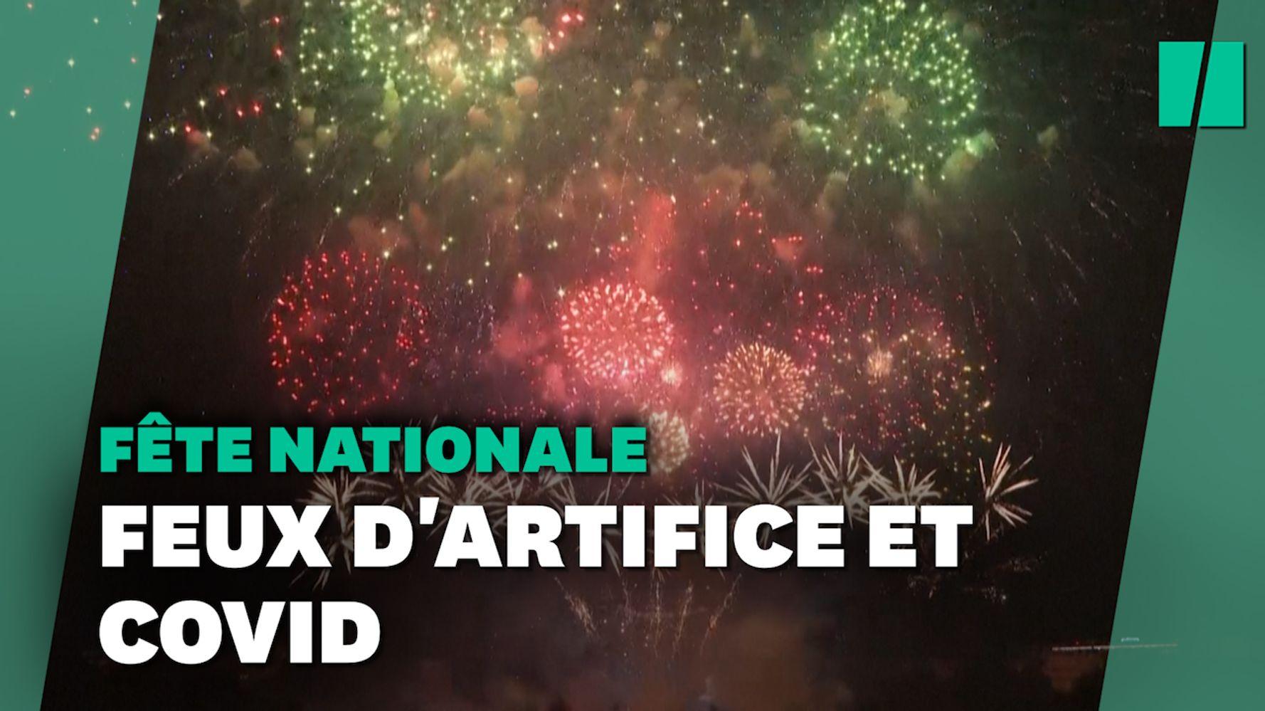 Les images du feu d'artifice du 14-Juillet à Paris, sous pass sanitaire
