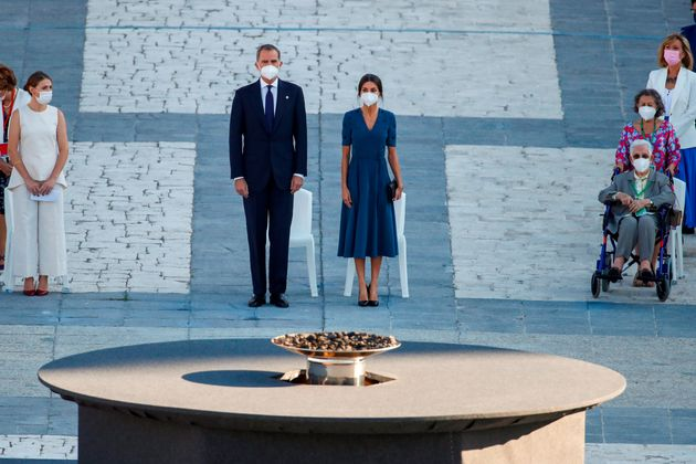 Los reyes Felipe y Letizia presiden el acto de homenaje de estado a las víctimas de la pandemia de la...