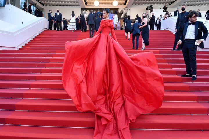 Marta Lozano, en la alfombra roja de Cannes.