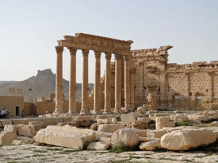 Aspecto de las ruinas del Templo de Bel, en Palmyra, en 2010.