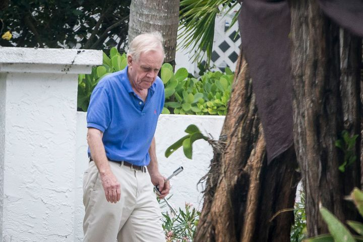 William H. Regnery II, one of the men who bankrolled the far-right, is photographed outside his home in Boca Grande, Florida,