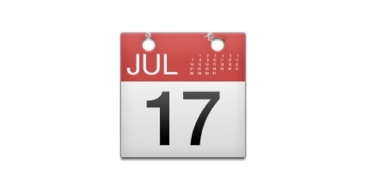 Captura de pantalla del emoji del calendario de Apple.