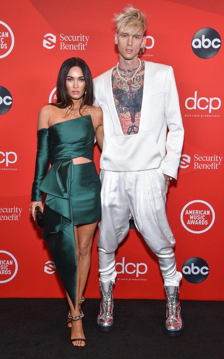 Megan Fox and Machine Gun Kelly at the 2020 American Music Awards.