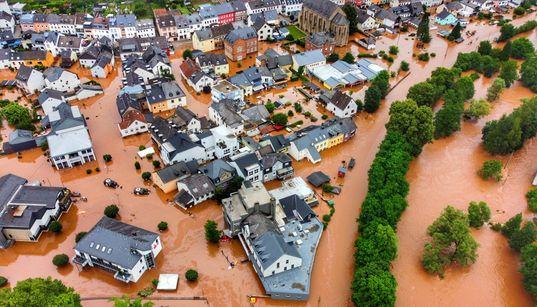 Las imágenes de las inundaciones que están asolando Alemania y