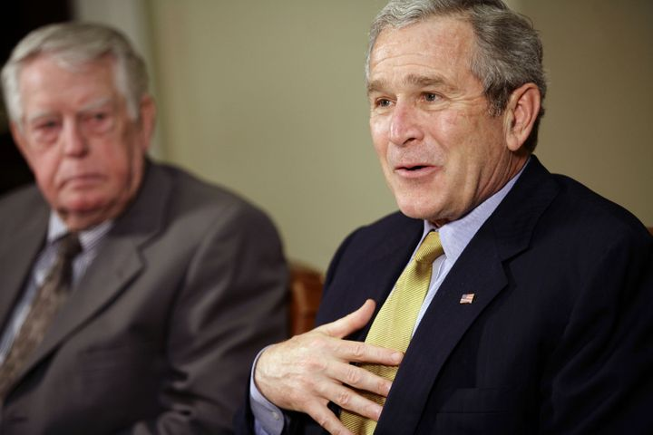 Then-President George W. Bush passed a law in 2003 expanding Medicare to cover prescription drugs. The law prohibited Medicar