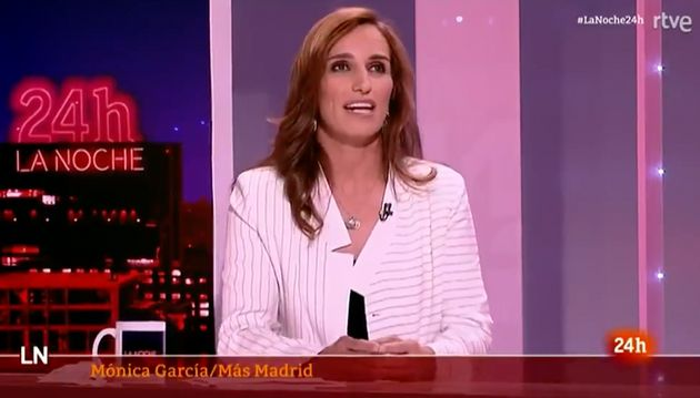 Mónica García, en 'La noche en 24