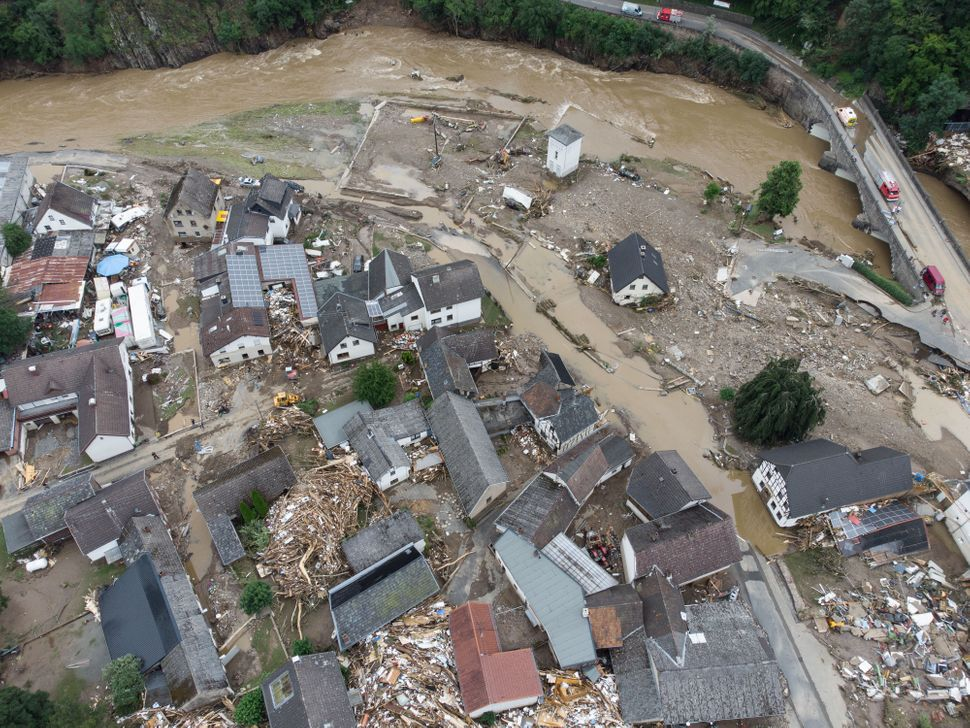 A village in the Ahrweiler district has been largely destroyed by flooding.