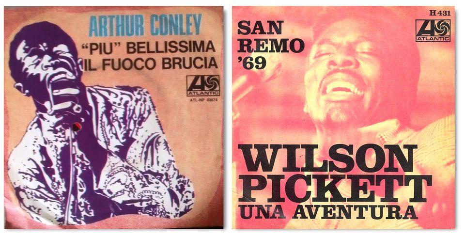 Le copertine di Più bellissima di Arthur Conley e di Un'avventura di Wilson Pickett (versione