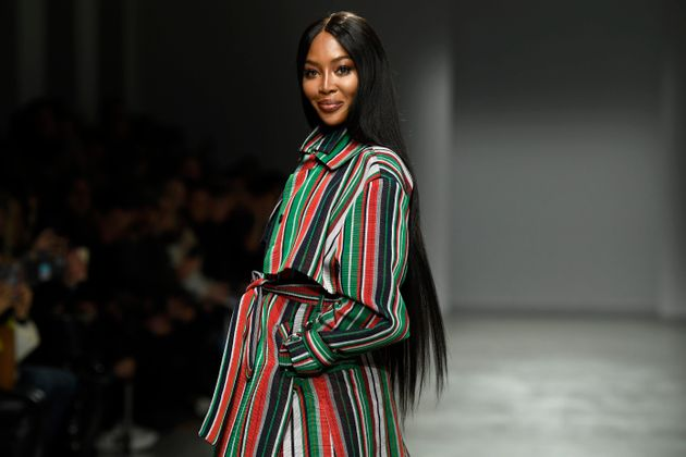 Naomi Campbell on the runway in February