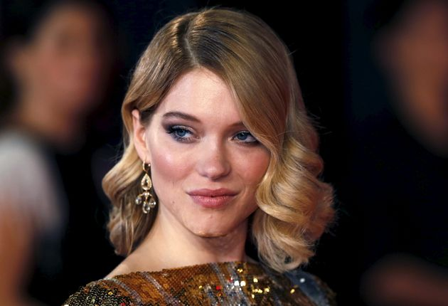 Lea Seydoux poses for photographers on the red carpet at the world premiere of the new James Bond 007 film