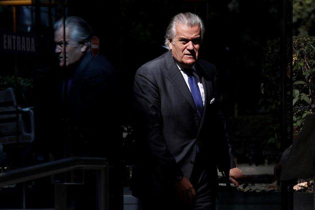 El extesorero del PP Luis Bárcenas, este viernes, en la Audiencia Nacional, en