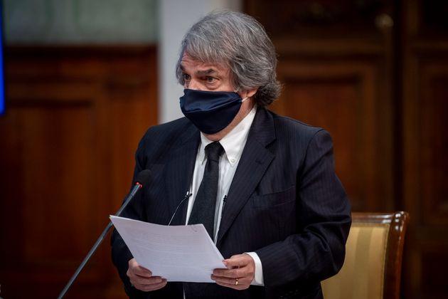 ROME, ITALY : Italian Minister of Public Administration Renato Brunetta (Photo by Antonio Masiello/Getty Images)