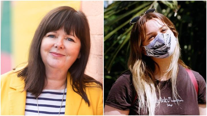 Angela Burgess (left) thinks it's time to unlock, but Evelyn Richards (right) thinks under 30s are being 'left behind'