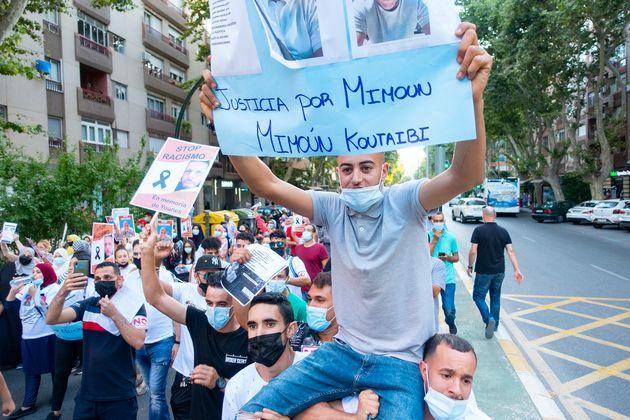 Manifestación contra el racismo y la xenofobia en Cartagena (Murcia) el 27 de junio de 2021. En...