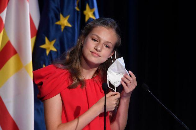 Leonor, momentos antes de su discurso en los Premios Fundación Princesa de