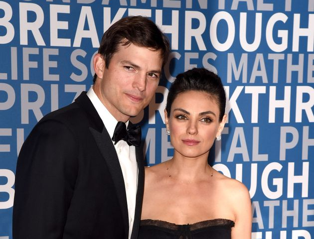 Ashton Kutcher and Mila Kunis attend the sixth annual Breakthrough Prize at NASA Ames Research Center...