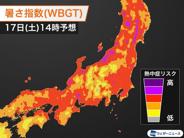 広い範囲で厳しい暑さ。京都府では初の「熱中症警戒アラート」
