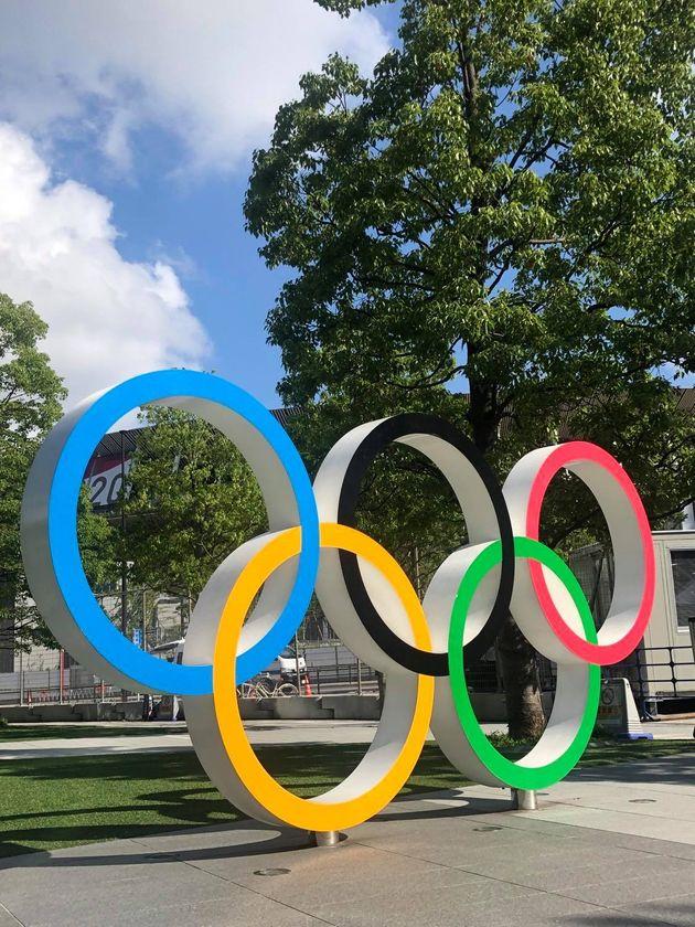 開幕まで6日となった東京オリンピック=2021年7月17日、井上未雪撮影