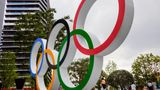 TOKYO, JAPAN - 2021/07/15: View of Olympic Rings near the National Stadium in Tokyo. (Photo by James Matsumoto/SOPA Images/LightRocket via Getty Images)