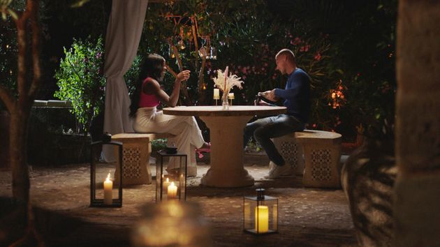 Kaz and Danny on their date in Friday night's episode of Love