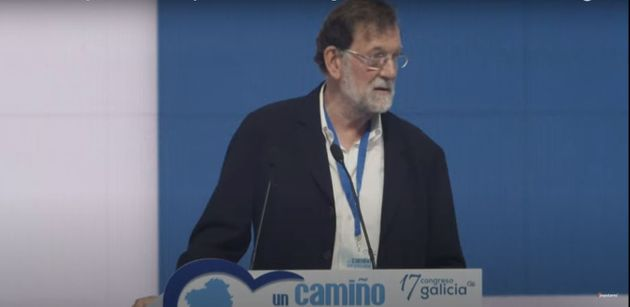 Mariano Rajoy, durante su