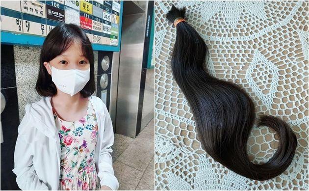 4년 동안 기부를 위해 머리카락을 길러온