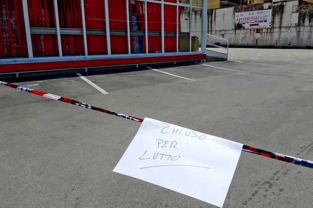 Carabinieri sul luogo dell' uccisione di Vincenza Tuorto, 63 anni, a Somma Vesuviana ( Napoli) 16 luglio 2021 ANSA / CIRO FUSCO