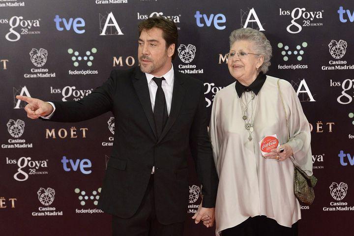 Pilar y Javier Bardem, en los Goya de 2014.