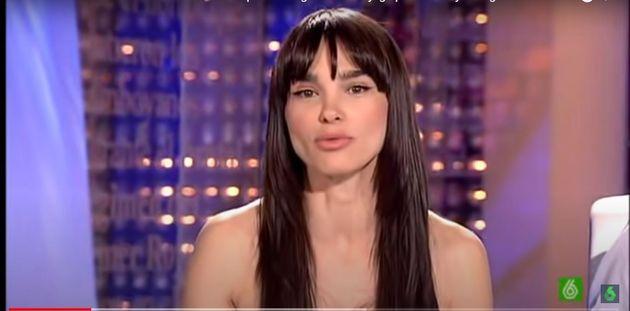 Beatriz Montañez, cuando presentaba 'El