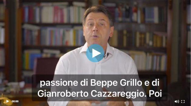Screenshot Giuseppe Conte