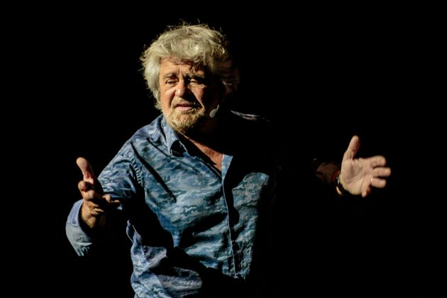 MILAN, ITALY - May 26: Italian comedian, actor, blogger and political activist Beppe Grillo performs in 'Grillo Vs Grillo' at Teatro degli Arcimboldi on May 26, 2016 in Milan, Italy. Involved in politics since 2009 Grillo is the founder of the Italian Five Star Movement political party. (Photo by Sergione Infuso/Corbis via Getty Images)