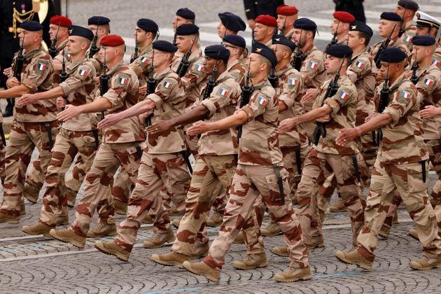 Les soldats de l'Operation Barkhane sur les Champs-Élysées le 14 juillet