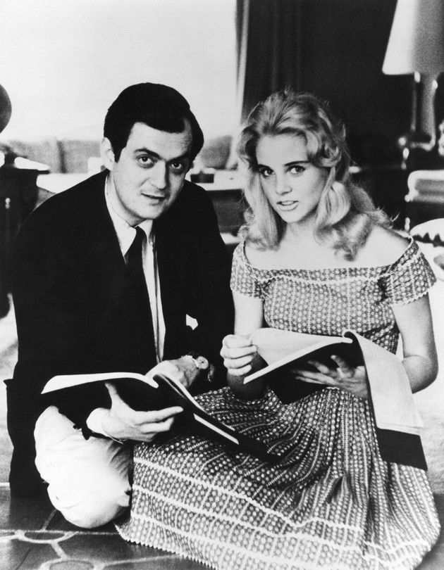 American actress Sue Lyon with director Stanley Kubrick on the set of his movie Lolita, based on the novel by Vladimir Nabokov. (Photo by Seven Arts Production/Sunset Boulevard/Corbis via Getty Images)