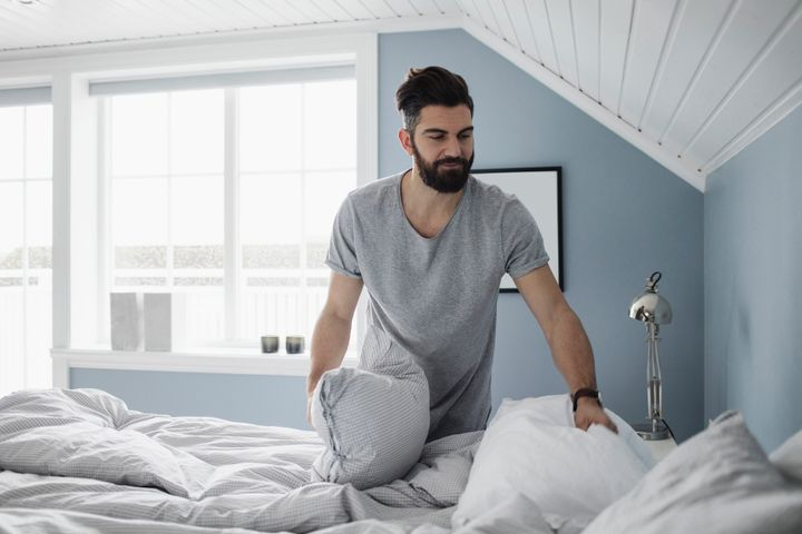 Making your bed each morning can create a sense of accomplishment that will spill over into the rest of your day.