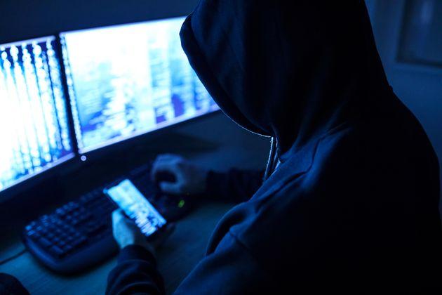 Hacker attacking