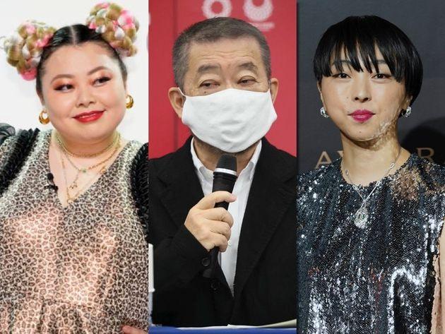 左から渡辺直美さん、佐々木宏さん、MIKIKOさん