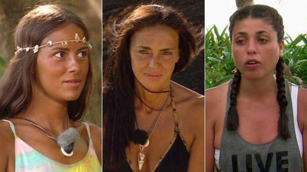 Melyssa, Olga y Lola en 'Supervivientes 2021', tres de los cinco finalistas.