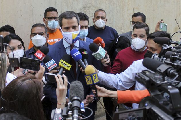 El opositor Juan Guaidó, en Caracas, en una imagen de