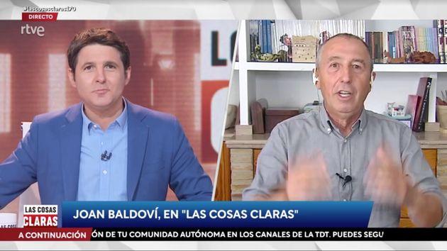 Jesús Cintora y Joan Baldoví en 'Las Cosas