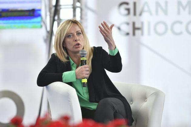 TURIN, ITALY - JULY 08: Politician Giorgia Meloni presents the book