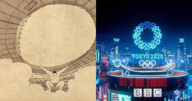 프랑스(왼쪽) 영국(오른쪽) 공영방송사의 '2020 도쿄 올림픽' 트레일러