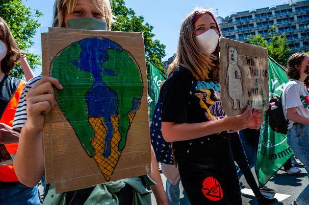 Photo d'illustration prise le 24 juin 2021 aux Pays-Bas lors d'une manifestation pour dénoncer...