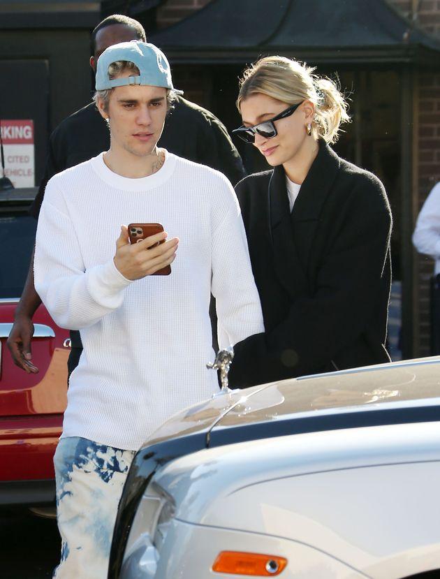 Justin and Hailey Bieber in LA last