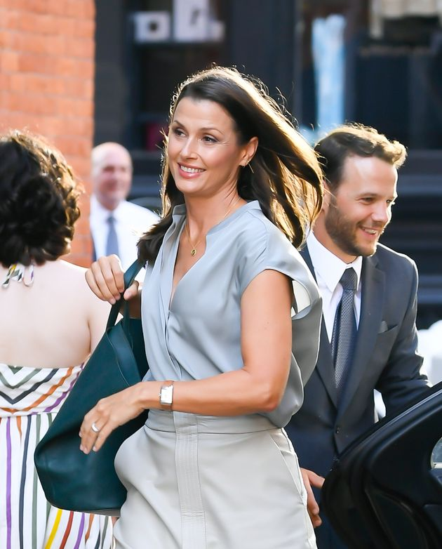 Bridget Moynahan on the set of And Just Like That...