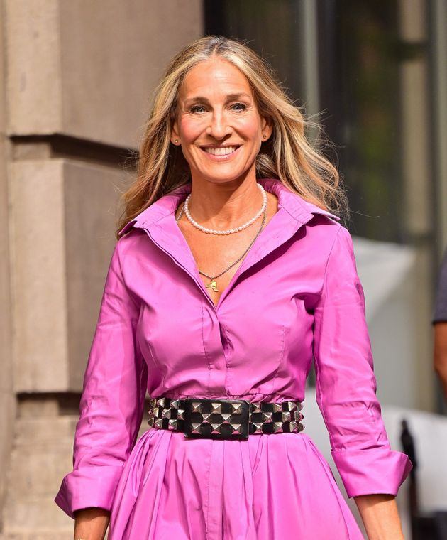 Sarah Jessica Parker is back in action as Carrie Bradshaw