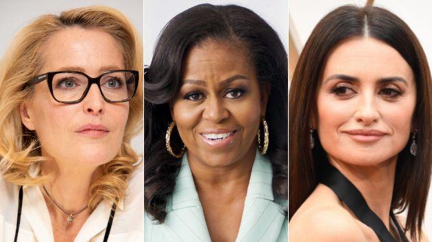 Gillian Anderson, Michelle Obama y Penélope Cruz